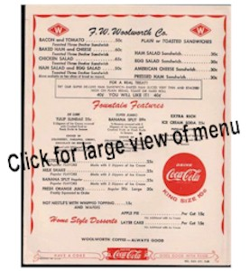 1960s Menu From Woolworths Related Keywords & Suggestions